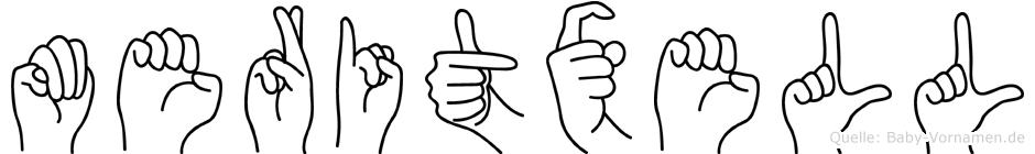 Meritxell im Fingeralphabet der Deutschen Gebärdensprache