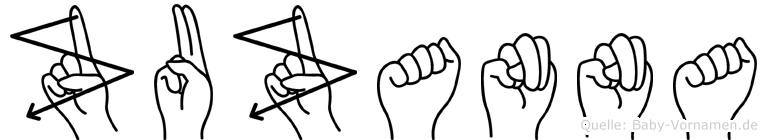 Zuzanna im Fingeralphabet der Deutschen Gebärdensprache