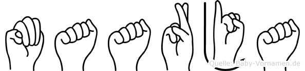 Maarja im Fingeralphabet der Deutschen Gebärdensprache