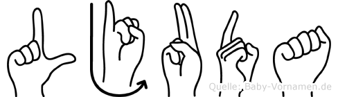 Ljuda in Fingersprache für Gehörlose