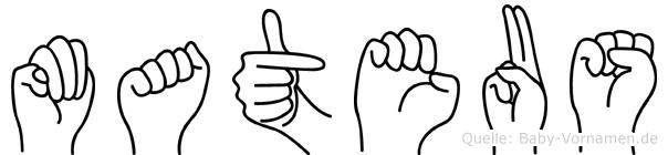 Mateus im Fingeralphabet der Deutschen Gebärdensprache