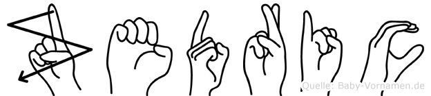 Zedric im Fingeralphabet der Deutschen Gebärdensprache