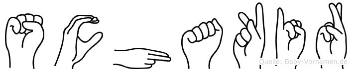 Schakir in Fingersprache für Gehörlose