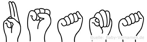 Usama im Fingeralphabet der Deutschen Gebärdensprache