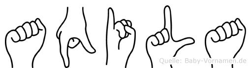 Aqila im Fingeralphabet der Deutschen Gebärdensprache