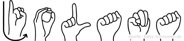 Jolana in Fingersprache für Gehörlose