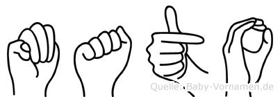 Mato in Fingersprache für Gehörlose