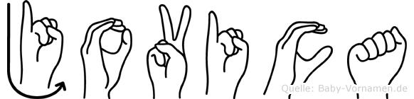 Jovica in Fingersprache für Gehörlose