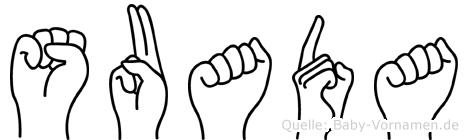 Suada in Fingersprache für Gehörlose