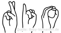 Rio im Fingeralphabet der Deutschen Gebärdensprache
