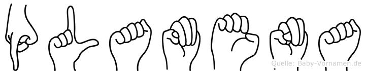 Plamena in Fingersprache für Gehörlose