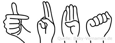 Tuba in Fingersprache für Gehörlose