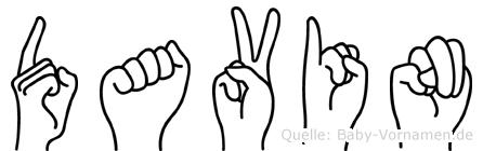 Davin in Fingersprache für Gehörlose