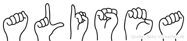 Alisea in Fingersprache für Gehörlose