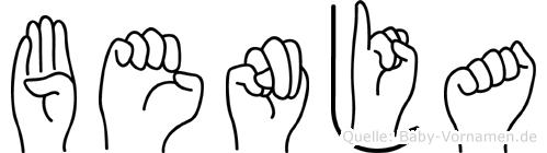 Benja im Fingeralphabet der Deutschen Gebärdensprache
