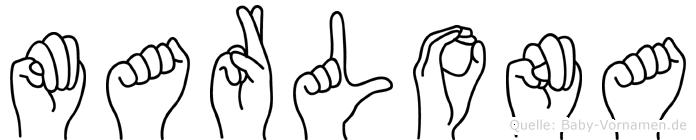 Marlona in Fingersprache für Gehörlose
