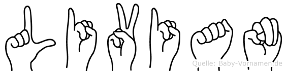 Livian in Fingersprache für Gehörlose