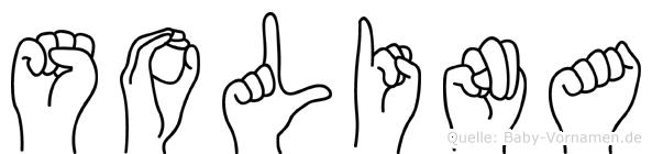 Solina im Fingeralphabet der Deutschen Gebärdensprache