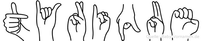 Tyrique in Fingersprache für Gehörlose