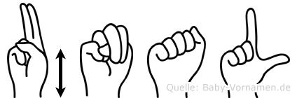 Ünal im Fingeralphabet der Deutschen Gebärdensprache