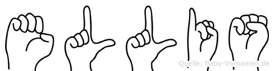 Ellis in Fingersprache für Gehörlose