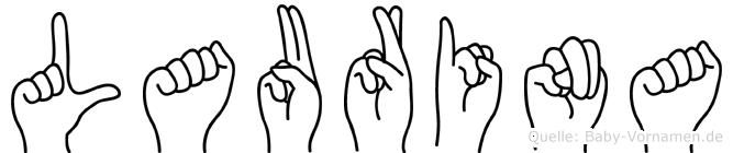 Laurina in Fingersprache für Gehörlose