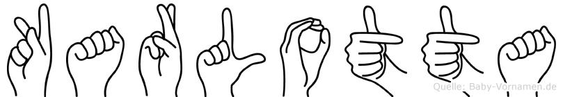 Karlotta in Fingersprache für Gehörlose