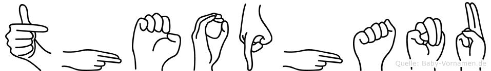 Theophanu im Fingeralphabet der Deutschen Gebärdensprache