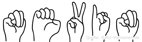 Nevin im Fingeralphabet der Deutschen Gebärdensprache