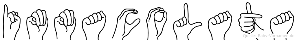 Immacolata im Fingeralphabet der Deutschen Gebärdensprache