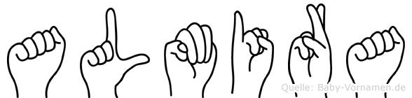 Almira in Fingersprache für Gehörlose