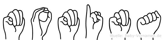 Momina in Fingersprache für Gehörlose