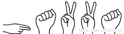 Havva im Fingeralphabet der Deutschen Gebärdensprache