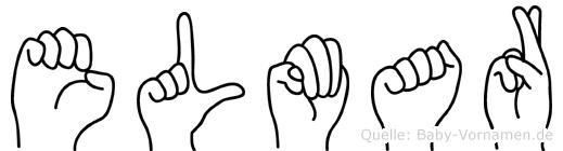 Elmar im Fingeralphabet der Deutschen Gebärdensprache