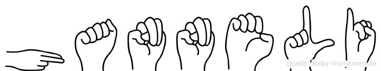 Hanneli in Fingersprache für Gehörlose