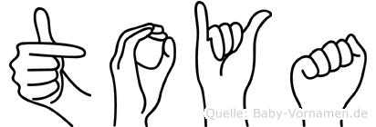 Toya in Fingersprache für Gehörlose