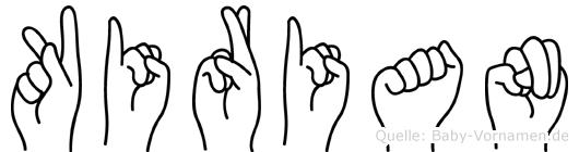 Kirian im Fingeralphabet der Deutschen Gebärdensprache