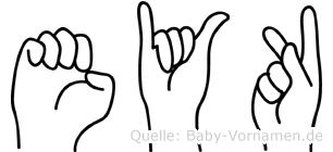 Eyk in Fingersprache für Gehörlose