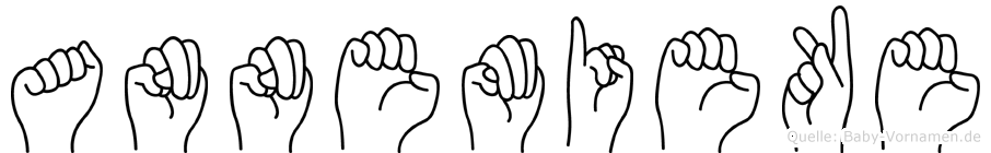 Annemieke im Fingeralphabet der Deutschen Gebärdensprache
