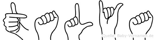 Talya in Fingersprache für Gehörlose