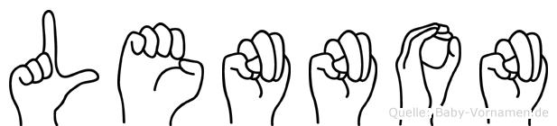 Lennon im Fingeralphabet der Deutschen Gebärdensprache