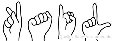 Kail im Fingeralphabet der Deutschen Gebärdensprache