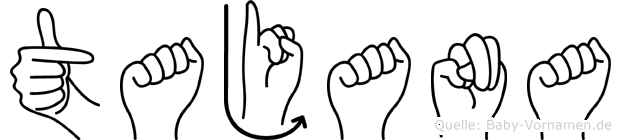 Tajana in Fingersprache für Gehörlose