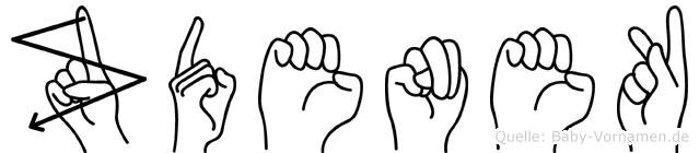 Zdenek im Fingeralphabet der Deutschen Gebärdensprache