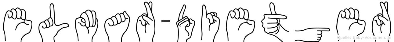 Elmar-Dietger im Fingeralphabet der Deutschen Gebärdensprache