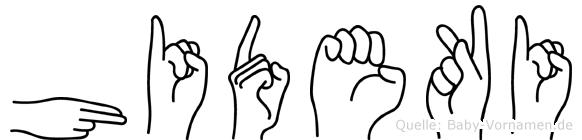 Hideki im Fingeralphabet der Deutschen Gebärdensprache