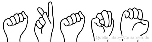Akane im Fingeralphabet der Deutschen Gebärdensprache
