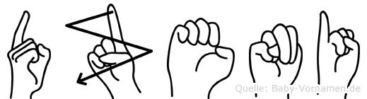 Dzeni in Fingersprache für Gehörlose