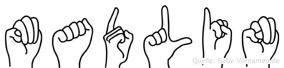 Madlin im Fingeralphabet der Deutschen Gebärdensprache