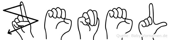 Zenel im Fingeralphabet der Deutschen Gebärdensprache